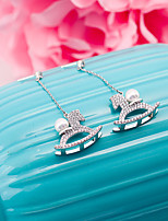cheap -Women's Stud Earrings Rhinestone Basic Silver Plated Jewelry For Wedding Party