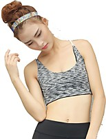 cheap -Women's Light Support Sports Bras Fast Dry Stretchy Sports Bra for Running/Jogging Cotton Nylon Dark Grey L M S XS