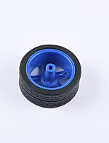 cheap -Crab Kingdom® DIY Educational Car Parts Car Wheel  TT Motor Tyre 1PCS Black and Blue#3