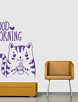cheap -Animal Words & Quotes Wall Stickers Plane Wall Stickers Decorative Wall Stickers,Vinyl Home Decoration Wall Decal Window Wall