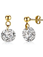 cheap -Women's Drop Earrings Cubic Zirconia Rhinestone Classic Elegant Gold Titanium Drop Flower Jewelry Wedding Evening Party Costume Jewelry