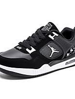 cheap -Men's Shoes PU Spring Fall Comfort Sneakers for Outdoor Black Black and Red Black/Orange
