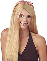 cheap -Synthetic Hair Wigs Straight Side Part Capless Cosplay Wig Long Blonde