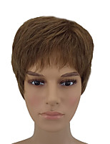 cheap -Synthetic Hair Wigs Straight Natural Wigs Short Brown