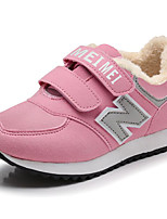 cheap -Boys' Shoes Nubuck leather Winter Fall Fluff Lining Comfort Sneakers for Casual Pink Green Red Rainbow
