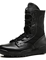 cheap -Men's Shoes Cowhide Fabric Leather Winter Fall Motorcycle Boots Fashion Boots Cowboy / Western Boots Boots Mid-Calf Boots for Office &