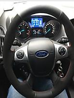 abordables -housses de volant de voiture (cuir moelleux) pour moteurs universels Ford Mondeo Kuga Edge