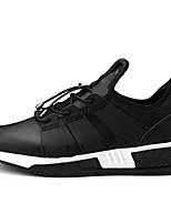 Недорогие -Муж. обувь Тюль Весна Осень Удобная обувь Кеды для Повседневные Черный Серый Черно-белый