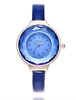 Недорогие -Жен. Наручные часы Модные часы Китайский Кварцевый Крупный циферблат Кожа Группа На каждый день минималист Черный Белый Синий Коричневый