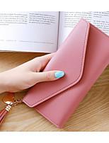 Недорогие -жен. Мешки Полиуретан Клатч Молнии для Повседневные Весна Осень Черный Розовый Лиловый Пурпурный Светло-серый