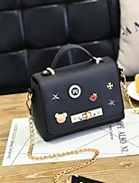 cheap -Women Bags PU Shoulder Bag Buttons Tassel for Casual All Season Purple Gray Blushing Pink Black Blue