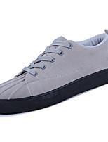 Недорогие -обувь Ткань Весна Осень Светодиодные подошвы Кеды для Повседневные Черный Серый Красный