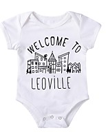 cheap -Baby Unisex Daily Sports Print One-Pieces,Cotton Spring Summer Cute Casual Long Sleeve White
