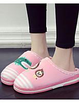 Недорогие -Мальчики Девочки обувь Ткань Зима Осень Удобная обувь Тапочки и Шлепанцы для Повседневные Серый Кофейный Розовый Светло-синий
