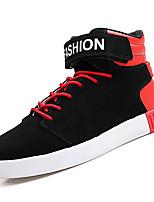 Недорогие -Муж. обувь Полиуретан Весна Осень Удобная обувь Кеды для Повседневные Белый Черный Черно-белый Черный/Красный