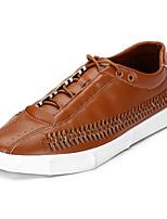 Недорогие -Муж. обувь Полиуретан Весна Осень Удобная обувь Кеды для Повседневные Белый Черный Коричневый