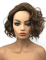cheap -Synthetic Wig Curly Capless Women's Brown Celebrity Wig Natural Wigs Short