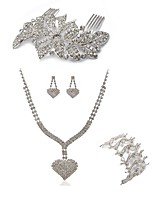 cheap -Women's Hair Combs Bridal Jewelry Sets Rhinestone Fashion European Wedding Party Imitation Diamond Alloy Heart Butterfly Body Jewelry 1
