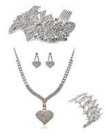 abordables -Femme Peigne Nuptiales Parures Strass Mode Européen Mariage Soirée Imitation Diamant Alliage Papillon Cœur Bijoux de Corps 1 Collier 1