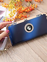 cheap -Women's Bags PU Wallet Crystal Detailing for Casual All Seasons Blue Red Purple