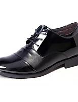 Недорогие -Муж. обувь Полиуретан Весна Осень Удобная обувь Туфли на шнуровке для Повседневные Черный
