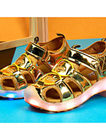 cheap -Girls' Shoes PU Spring Summer Comfort Sandals for Casual Pink Silver Gold