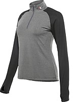 cheap -Women's Running T-Shirt Long Sleeves Quick Dry T-shirt for Running/Jogging Cotton Loose Grey Blue Rose Red Dark Grey Peach XXL XL L M S