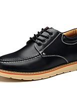 Недорогие -Муж. обувь Полиуретан Весна Осень Удобная обувь Туфли на шнуровке для Черный Коричневый Вино