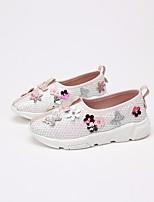 Недорогие -Девочки обувь Дерматин Весна Осень Удобная обувь Мокасины и Свитер для Повседневные Розовый