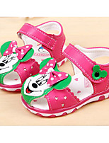 cheap -Boys' Girls' Shoes Leatherette Spring Summer Comfort First Walkers Sandals for Casual Pink Blue Peach
