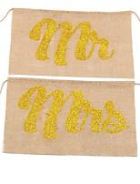abordables -Mariage Fête / Soirée Jute Décorations de Mariage Thème classique Vintage Theme Toutes les Saisons