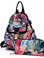 Недорогие -Жен. Мешки Полотно рюкзак Карман для Повседневные Весна Красный Желтый