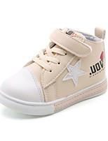 Недорогие -Девочки обувь Синтетика Весна Осень Удобная обувь Обувь для малышей Ботильоны Ботинки Ботинки Цветы На крючках для Повседневные Черный