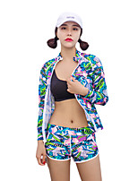 cheap -HISEA® Women's Semi-Drysuit Yoga Fast Dry Windproof Folding Swimming Stretchy UV resistant Lycra Diving Suit Long Sleeves Diving Suits