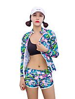 economico -HISEA® Per donna Muta umida Yoga Asciugatura rapida Antivento Elastico Nuoto Ripiegabile Resistente ai raggi UV Licra Scafandro Manica