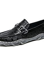 Недорогие -Муж. обувь Наппа Leather Весна Осень Мокасины Удобная обувь Мокасины и Свитер для Повседневные Для вечеринки / ужина Белый Черный