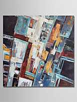 cheap -Hand-Painted Abstract Square, Comtemporary Simple Modern Canvas Oil Painting Home Decoration One Panel