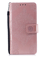 cheap -Case For Huawei Honor 7 Huawei P9 Lite Huawei Huawei P8 Lite P8 Lite (2017) P10 Lite Card Holder Wallet with Stand Pattern Embossed Full