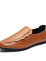 cheap -Men's Shoes Leatherette Spring Fall Comfort Loafers & Slip-Ons for Casual Office & Career Yellow Gray Black