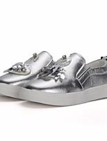 Недорогие -Девочки обувь Полиуретан Весна Осень Удобная обувь Кеды для Повседневные Золотой Серебряный
