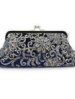 cheap -Women's Bags Velvet Evening Bag Embroidery for Wedding Event/Party All Seasons Royal Blue Red Black