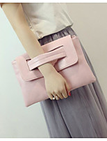 cheap -Women Bags PU Clutch Zipper for Casual All Season Gray Blushing Pink Black White