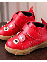 cheap -Girls' Shoes Leatherette Winter Fall Comfort Bootie Boots for Casual Red Black