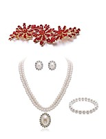 cheap -Women's Bridal Jewelry Sets Strand Bracelet Rhinestone Fashion European Wedding Party Imitation Pearl Imitation Diamond Alloy Flower Body