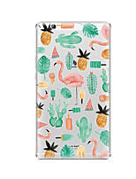 cheap -Case For Huawei Huawei MediaPad T3 8.0 Transparent Pattern Back Cover Plants Flamingo Soft TPU for