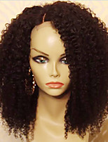 cheap -Human Hair Lace Front Wig Brazilian Hair Kinky Curly With Baby Hair 130% Density Unprocessed 100% Virgin African American Wig Natural