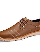 Недорогие -Муж. обувь Искусственное волокно Весна Осень Светодиодные подошвы Туфли на шнуровке Животные принты для Повседневные Черный Серый