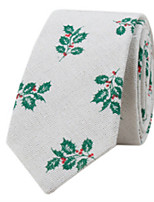 cheap -Men's Casual Cotton Necktie - Print