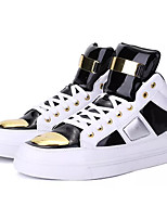 cheap -Men's Shoes PU Spring Fall Comfort Sneakers for Casual Gold White Black