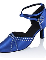 cheap -Women's Modern Satin Sandal Heel Professional Customized Heel Blue Black / Customizable